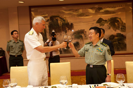 Courtesy: U.S. Pacific Command | Adm. Locklear visits with Chinese military leadership in the People's Republic of China.