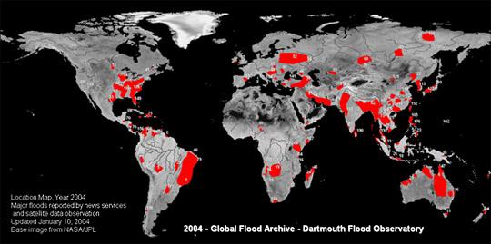 Base Image from NASA/JPL, Courtesy Dartmouth Flood Observatory