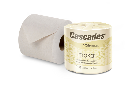 Cascades Tissue Group Expands Moka™ Line as Demand for Unbleached, 100% Recycled Bathroom Tissue Increases