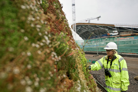 |One bioengineering technique applied to Olympic Park is green walls around the power station erected for the Games.
