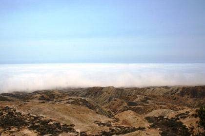 Photo Credit: Jane Hendron, USFWS  A marine layer over the island.