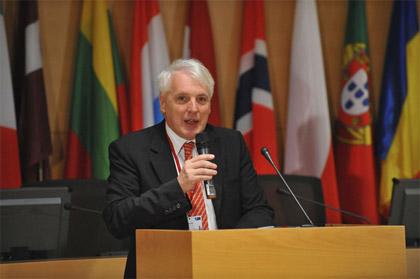 © NATO Jamie Shea gives the introduction at the Strategic Concept Seminar 1: NATO's Fundamental Security Tasks.