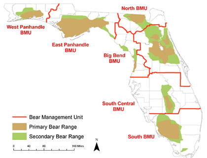 Source: FWC Bear Management Units assist the Florida Fish and Wildlife Conservation Commission (FWC) in managing bear populations.
