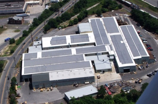 © Philadelphia Sign Company|1 MW system made this a net-zero manufacturing plant.