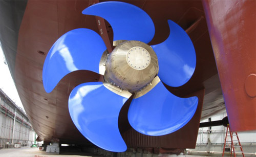 Photo Credit: U.S. Navy|U.S.S. GUNSTON HALL (LSD 44) showing the propeller coating.