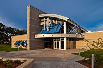 Atkins | Tyndale Air Force Base's Fitness Center was designed and engineered by Atkins to achieve Platinum-level LEED certification without exceeding the building's original budget allocation.