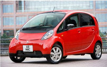 NAFTC | The Mitsubishi i-MiEV is an example of a Battery Electric Vehicle.