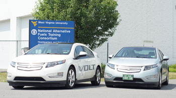 NAFTC |  The Chevy Volt is an example of a Plug-in Hybrid Electric Vehicle.