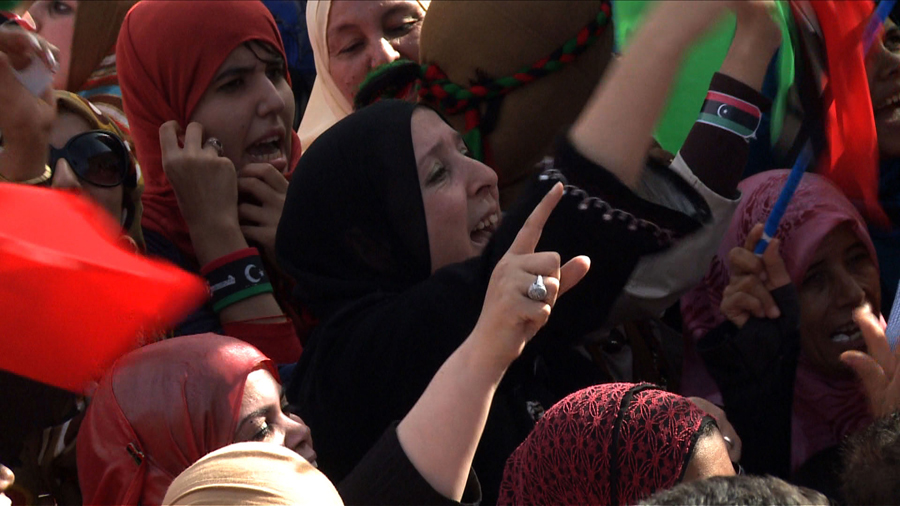Photo courtesy NATO | Libyan women celebrating the end of the Qadhafi regime in Tripoli